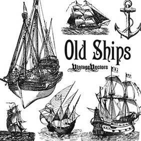 Old Sailing Ships - vector gratuit #219879