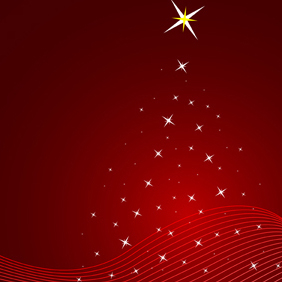 Red Christmas Vector Background - Free vector #219889