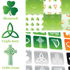 Irish & Celtic Symbol Vector Set - бесплатный vector #220009