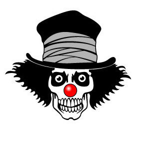 Clown Skull Vector Image - Kostenloses vector #220049