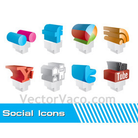 Free Social Icons - Kostenloses vector #220069