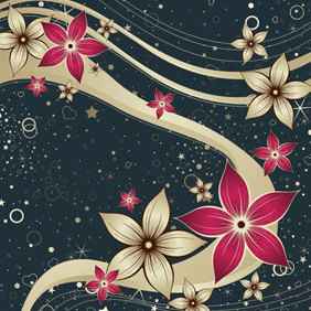 Flower Vector Background - Kostenloses vector #220089