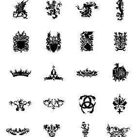 Heraldry Free Vector Sets - бесплатный vector #220109