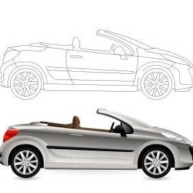 Convertible. Cabriolet Car. - Free vector #220219