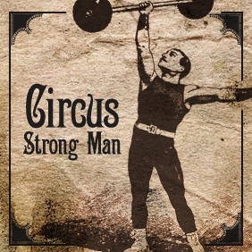 Classic Circus Strong Man - Free vector #220369