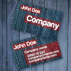 Jeans Business Card - vector gratuit #220509