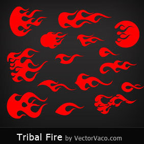 Tribal Fire - vector #220629 gratis