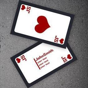 Poker Business Cards - vector gratuit #220659