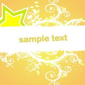 Floral Ornament Orange Banner - Free vector #220679