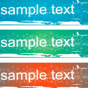 Three Frame Banner - Free vector #220829