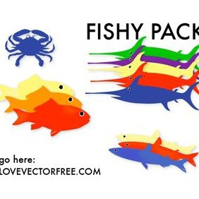 Fishy Pack - Free vector #221059