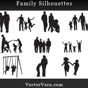 Family Silhouettes - vector gratuit #221199