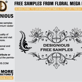 Free Floral Mega Pack 6 Sample - Free vector #221239