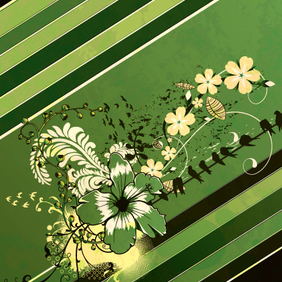 Spring Floral Illustration - Free vector #221289