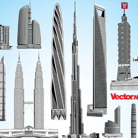Skyscraper Vector Pack 2. - бесплатный vector #221329