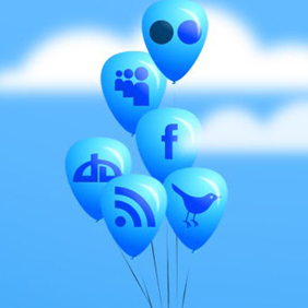 Free Balloon Social Media Icon Set - vector gratuit #221359