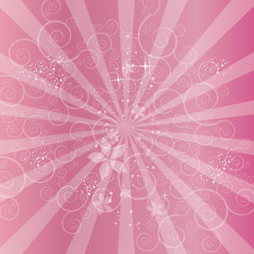 Swirly Red Background - vector #221539 gratis