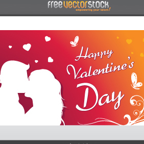 Happy Valentine's Day Card - vector gratuit #221689