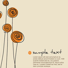 Flower Background Template - vector gratuit #221709