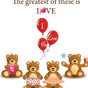 The Greatest Of These Is LOVE - vector gratuit #221739