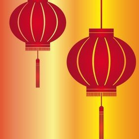 Red Lantern - vector #221789 gratis