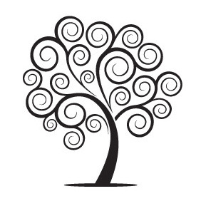 Swirly Tree - vector gratuit #221799