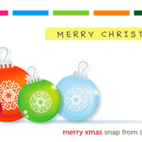 Xmas Ornaments - vector gratuit #221869