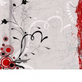 Grunge Floral Background Design - vector gratuit #221879