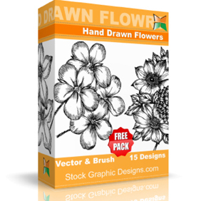 Hand Drawn Flowers Free Pack - vector gratuit #221899