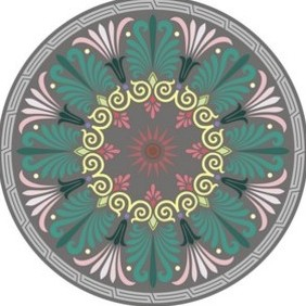 Greek Round Ornament - vector gratuit #222069