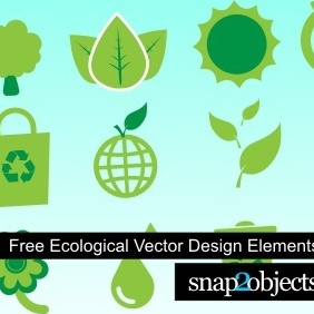 Ecological Vector Design Elements - vector gratuit #222549