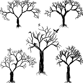 Tree Set - vector #222599 gratis
