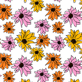 Seamless Flower Pattern - vector gratuit #222709