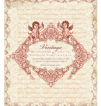 Free vintage frame with angels vector - Free vector #222729