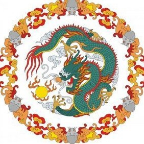 Chinese Dragon - Free vector #222749