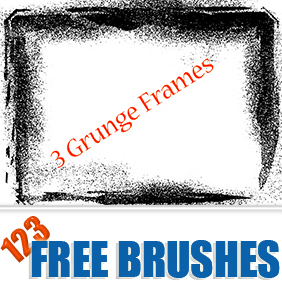 Grunge Frames Vector + Brush - бесплатный vector #222759