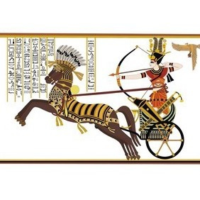 Ramesses II In The Battle Of Kadesh - Free vector #222839
