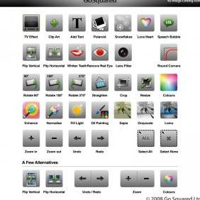 40 Icons For Your Photo Editing App - Free vector #223149