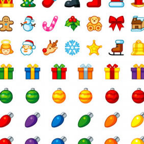 Free Christmas Vector Icons For You - Kostenloses vector #223609