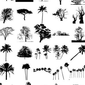 30 Free Tree Silhouette - Free vector #223669