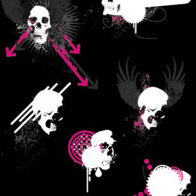 Skulls Vector - Ben Blogged - бесплатный vector #223929
