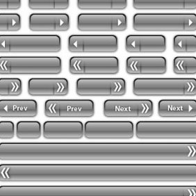 Glass Button Vectors And Bars - Free vector #223999