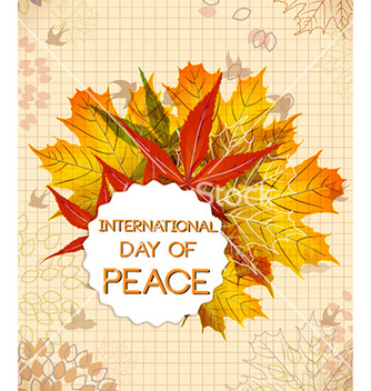 Free international day of peace vector - бесплатный vector #224159