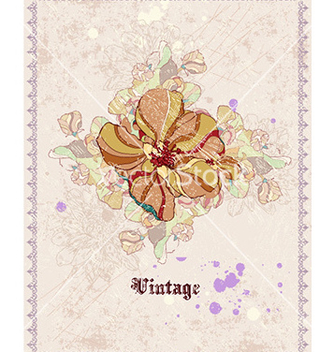 Free vintage floral background vector - Kostenloses vector #224189