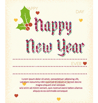 Free happy new year vector - vector #224229 gratis