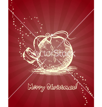 Free christmas with ball vector - vector gratuit #224259