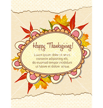 Free happy thanksgiving day with doodle frame vector - Free vector #224459