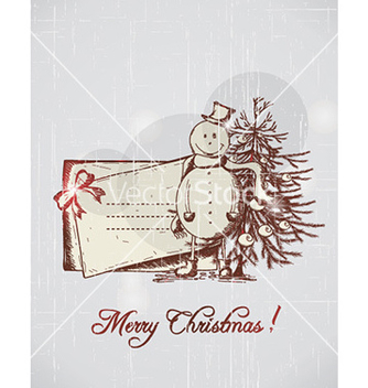 Free christmas with snow man vector - бесплатный vector #224549