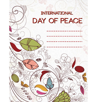 Free international day of peace vector - Kostenloses vector #224759