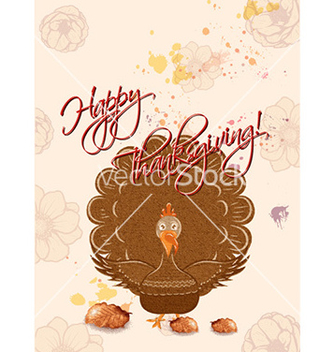 Free happy thanksgiving day with turkey vector - vector gratuit #224899